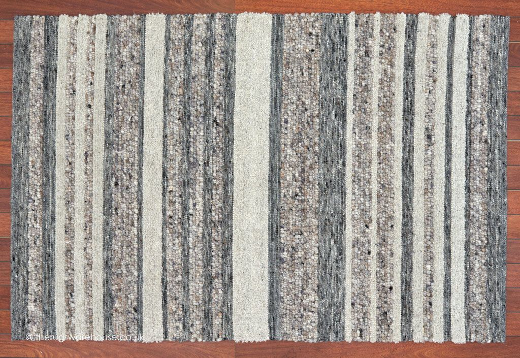 City Stripes Grey Rug A Luxury Multi Textured Striped Wool In