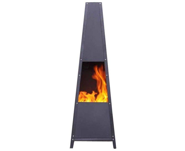 Alban Extra-Large Contemporary Garden Chiminea, perfect for garden or patio in the winter