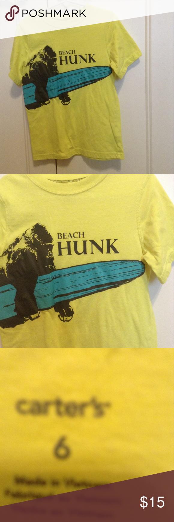 Carters Boys Size 6 Beach Hunk T