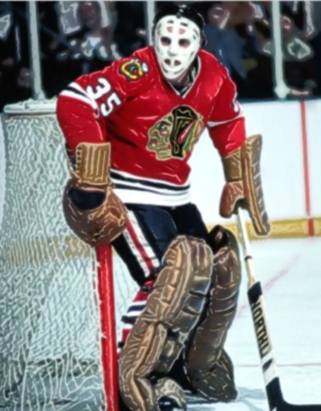 Chicago Blackhawks Tony Esposito Blackhawks Hockey Chicago Blackhawks Hockey Hockey Goalie