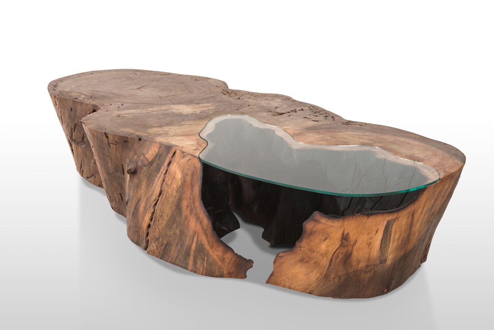 Mesa de centro r stica tronco decora o tronco de rvore for Mesa de tronco