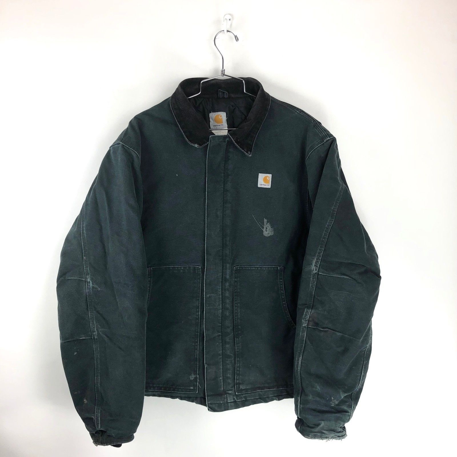 Vintage Carhartt Black Insulated Lined Jacket Mens Xl Usa Made Coat Zip Work Workwear Vintage Carhartt Jacket Workwear Menswear [ 1600 x 1600 Pixel ]