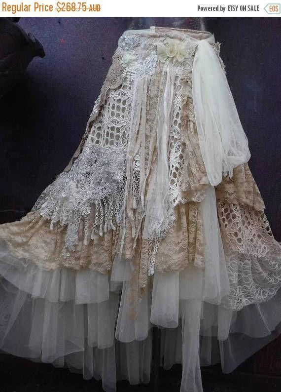5f4ff12fdc7 Mini Skirt Dress · 20%OFF wedding bridaltattered skirt formal fantasy boho  Boho Skirts