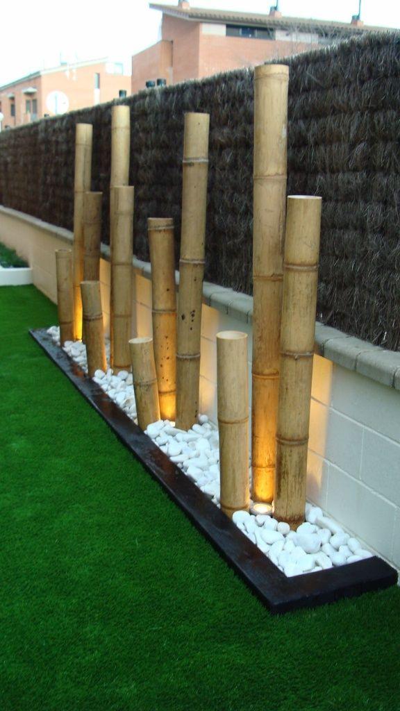 25 jardines de dise o contempor neo que nos har n so ar - Bambu seco para decoracion ...