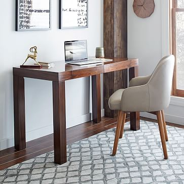 Parsons Desk With Drawers Rosewood Westelm 48 W X 24 D 30