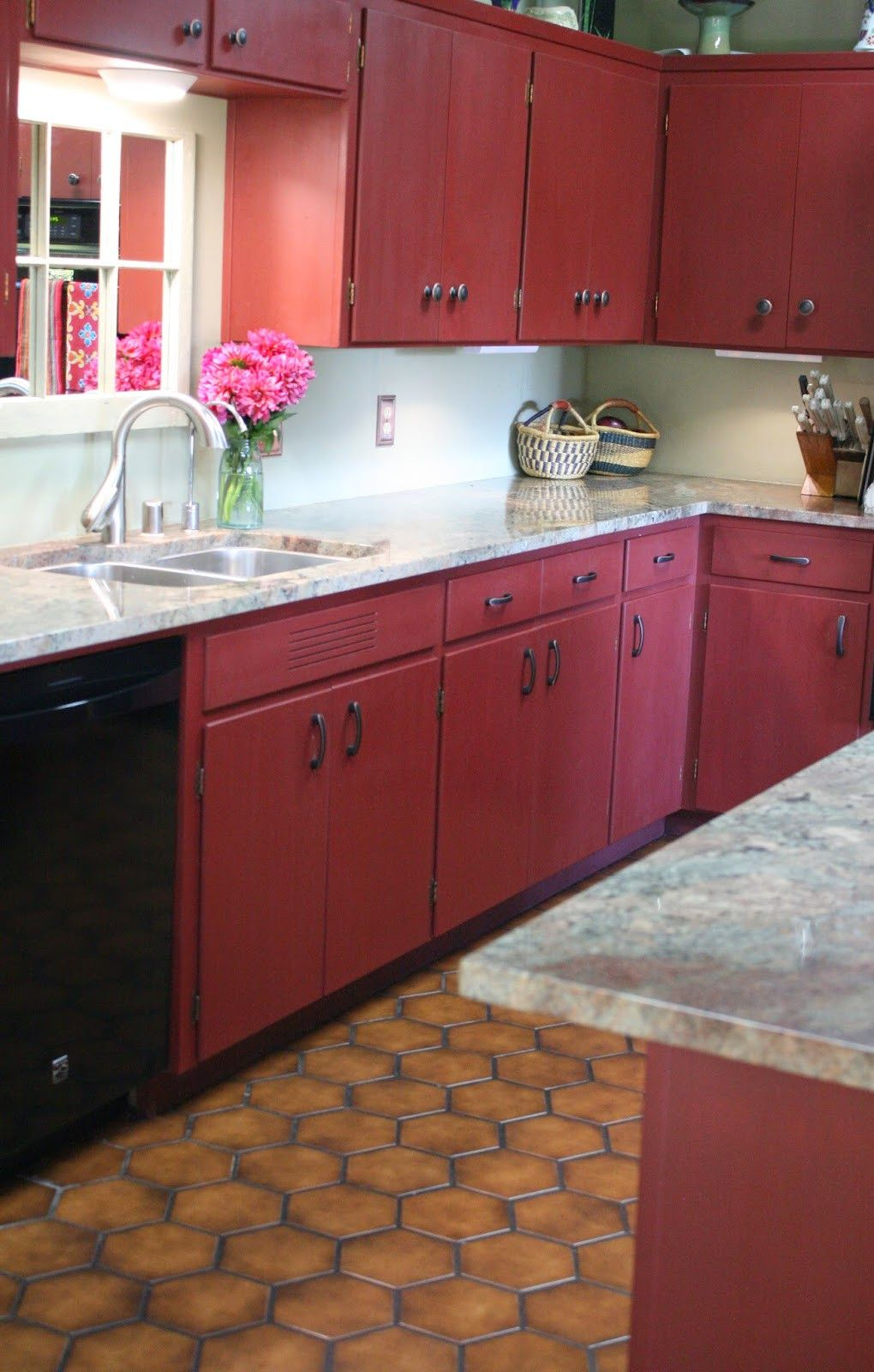Reloved Rubbish Primer Red Chalk Paint Kitchen Cabinets In 2020 Chalk Paint Kitchen Cabinets Chalk Paint Kitchen Red Kitchen Cabinets