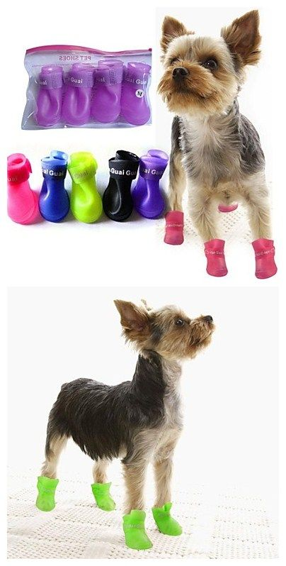 7 19 Dogs Dog Boots Dog Shoes Rain Boots Waterproof Solid Color