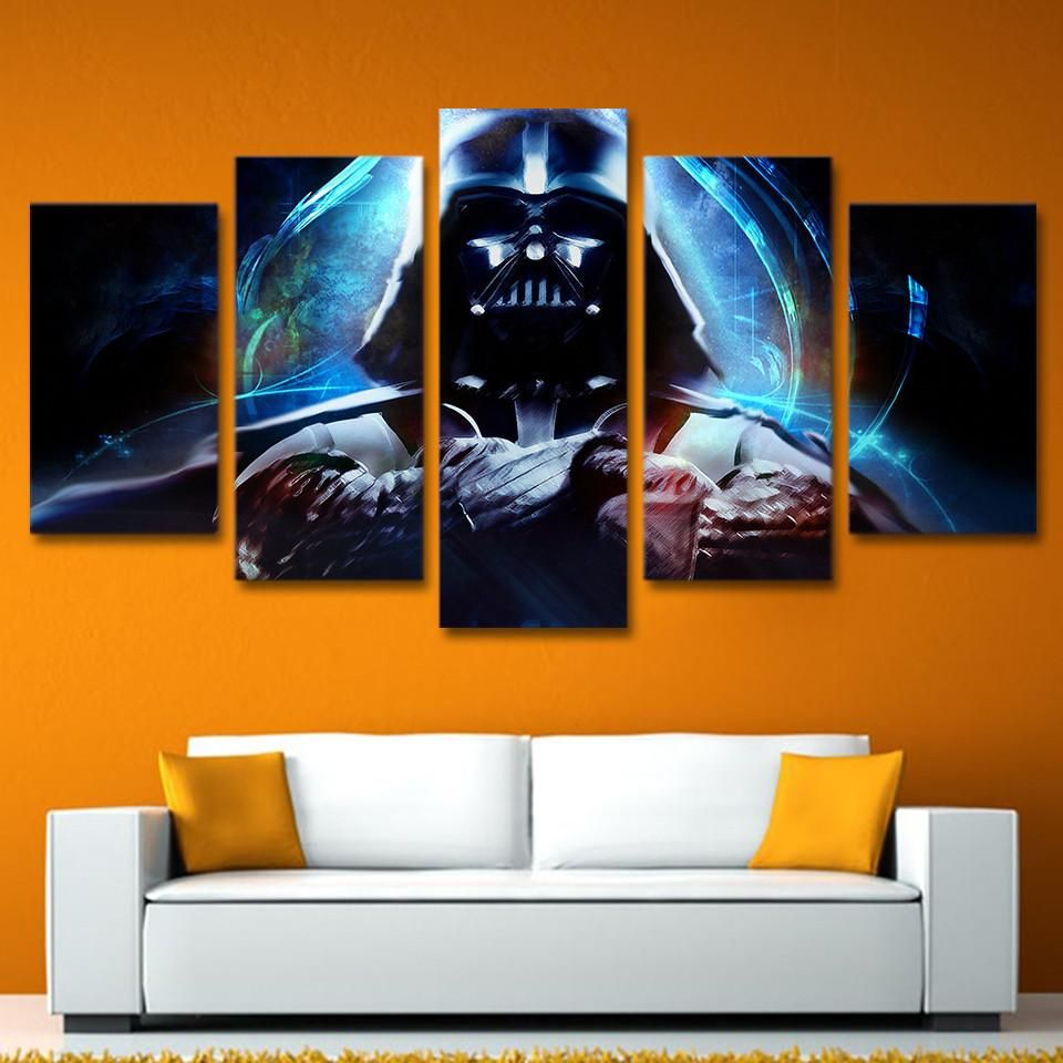 5 piece pcs star wars canvas panel wall art darth vader picture