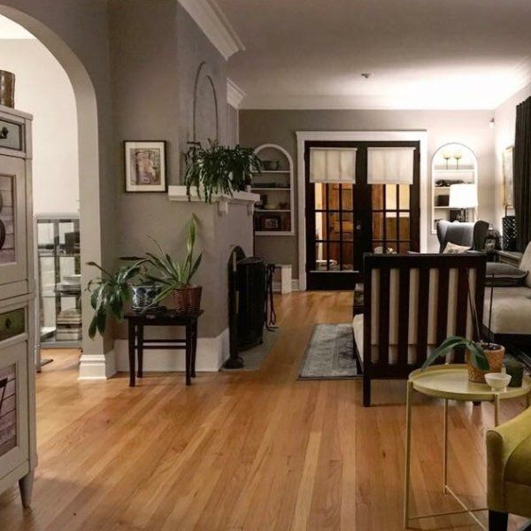 Tony's functional gray living_room project | Sherwin ...