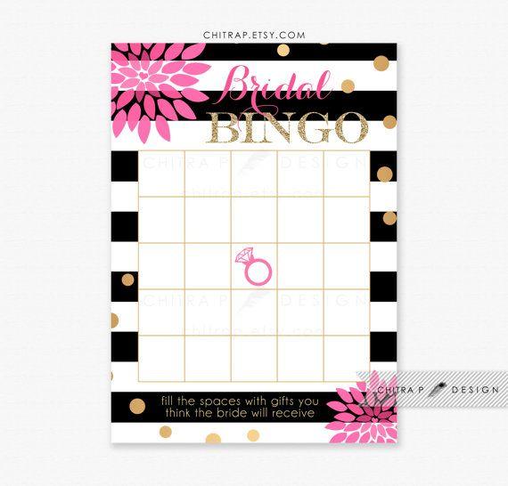 Kate Spade Inspired Bridal Shower Bingo Cards - Printed or Printable ...