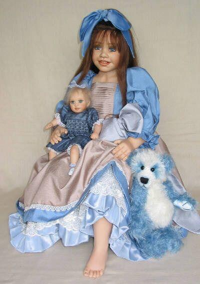 Puppen & Zubehör 23 Porcelain doll by Rose Marie Strydom