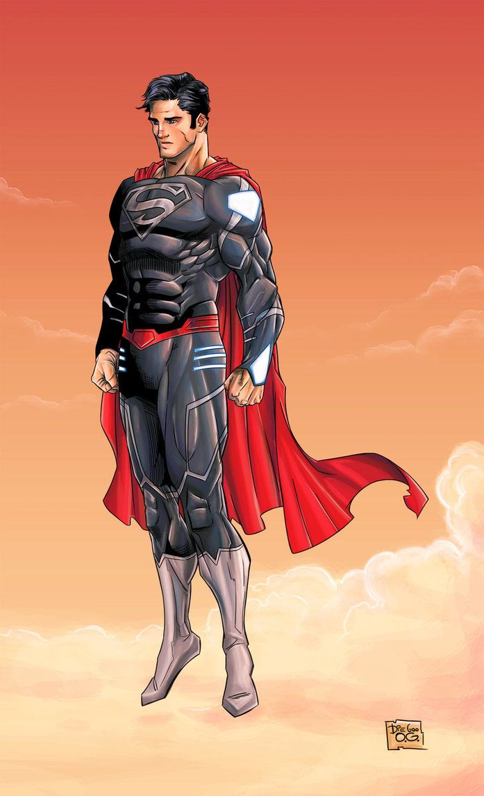 Download The Image Of The Evil Superman With Black Suit: New 52 Black Suit By DiegoOlortegui On