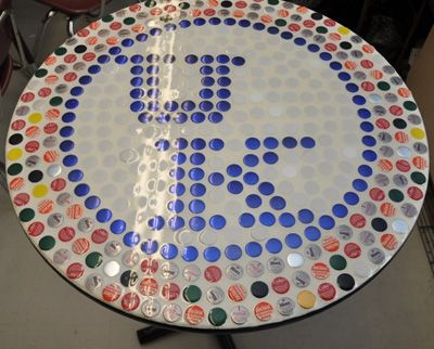 Husker Man Cave Ideas : Bottle cap craft creative ideas how fun would a husker table be
