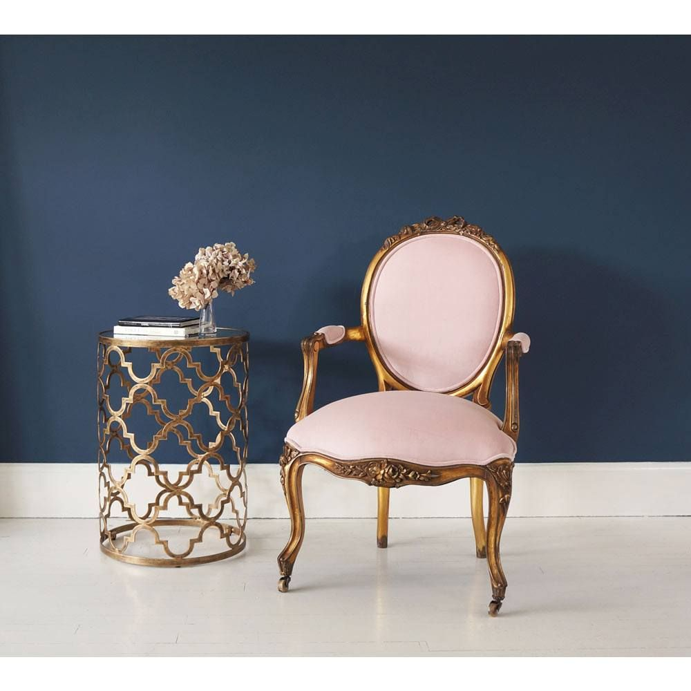Marilyn monroe french chair - Sacre Coeur French Chair Pink Gold Chair