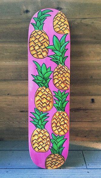 Pineapple Skateboard by LavaBoards on Etsy