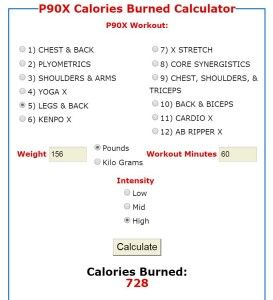 P90X calculator With optimal health often comes clarity of