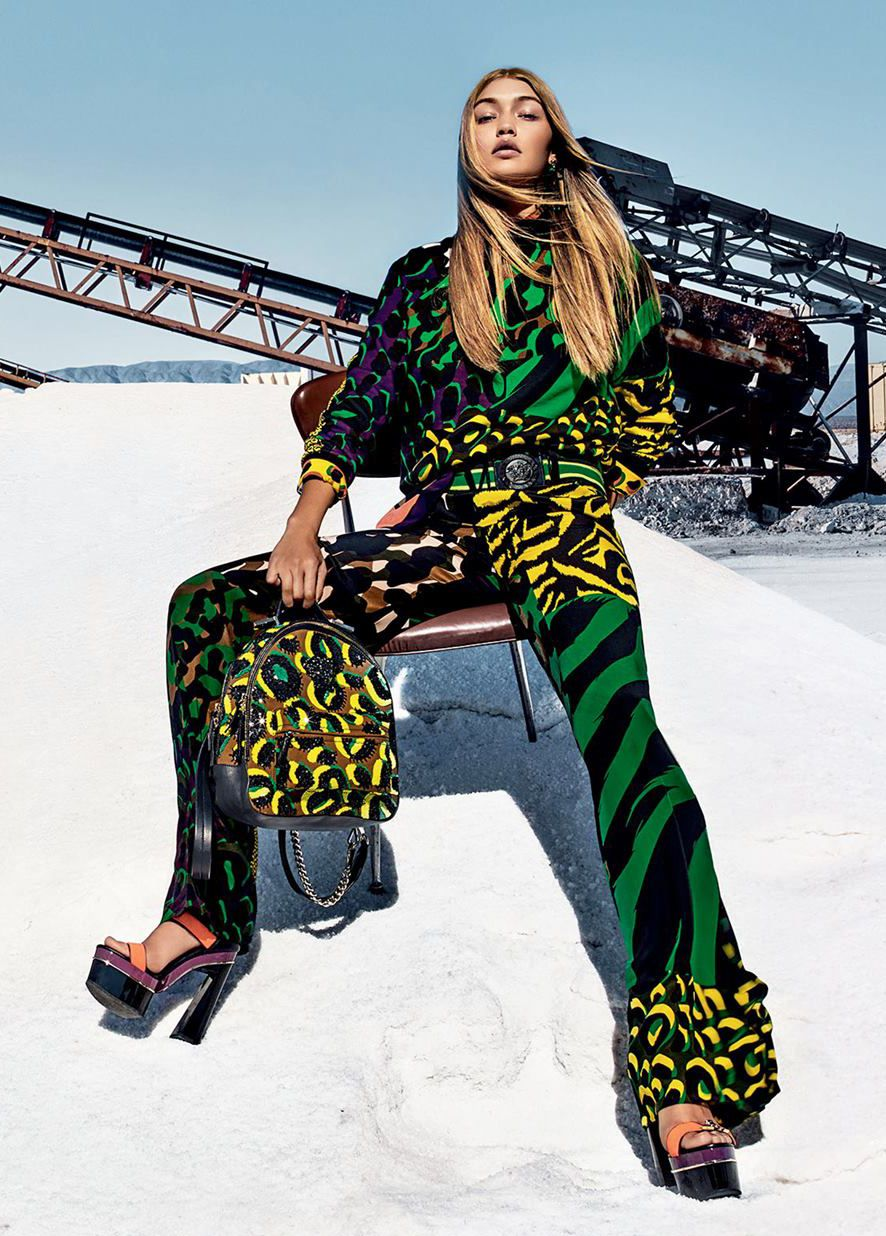 "runwayandbeauty  ""Gigi Hadid - Versace Spring Summer 2016 Ad Campaign. Ph   Steven Klein "" 76a9af744195b"