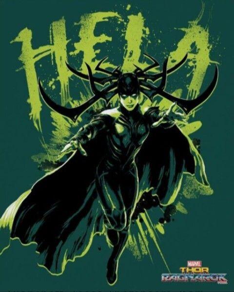 Novo pôster de Thor: Ragnarok.  Pôster de Hela a vilã do filme.