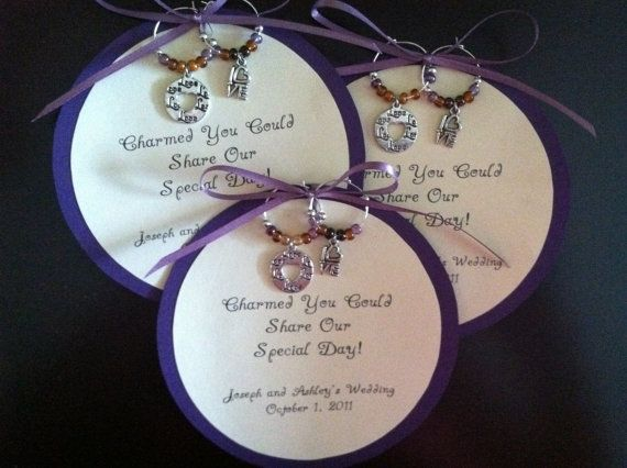 Custom Wine Charm Favors By Princesscharming On Etsy In