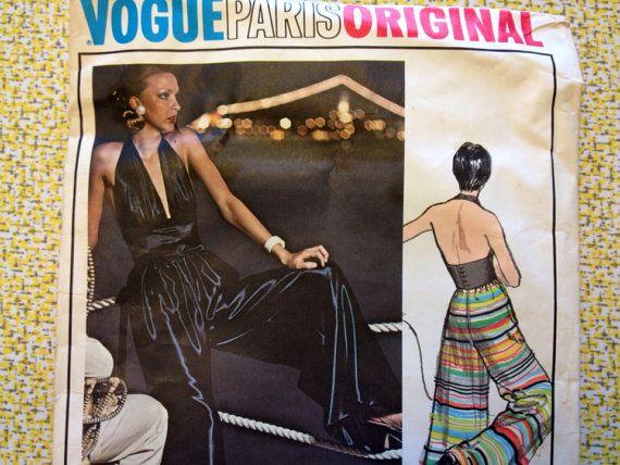70s vogue Lanvin Vogue Pattern * Vogue Paris Original 2870 * 70s Vogue Halter and Palazzo Pants on Etsy, $97.71 AUD