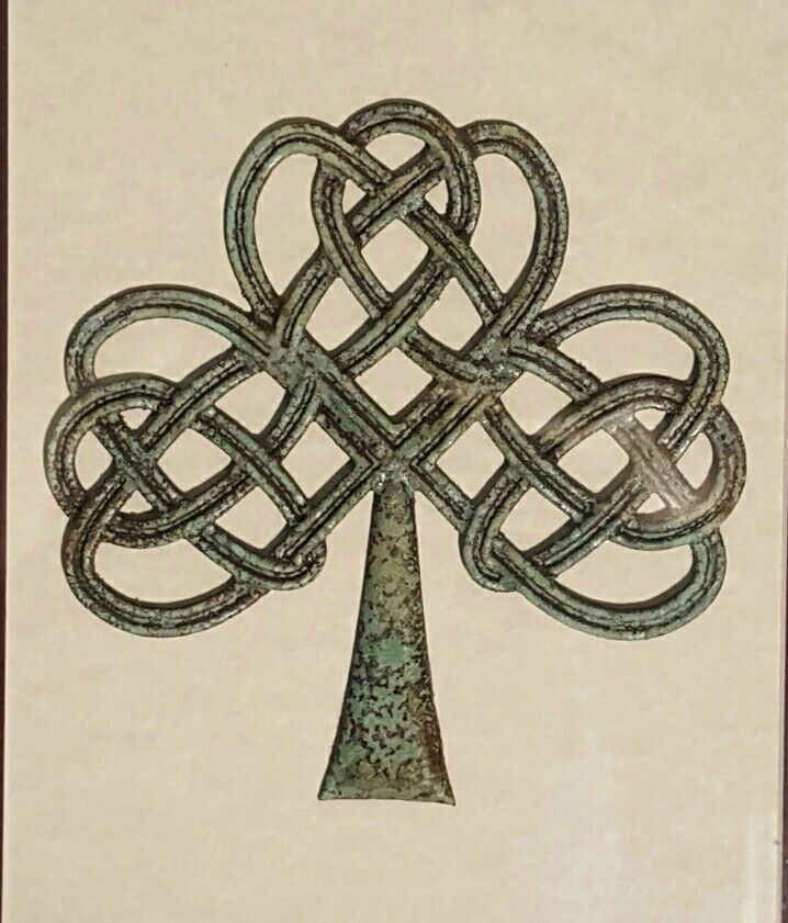 Tree of Life in the shape of a Shamrock in bronze with patina