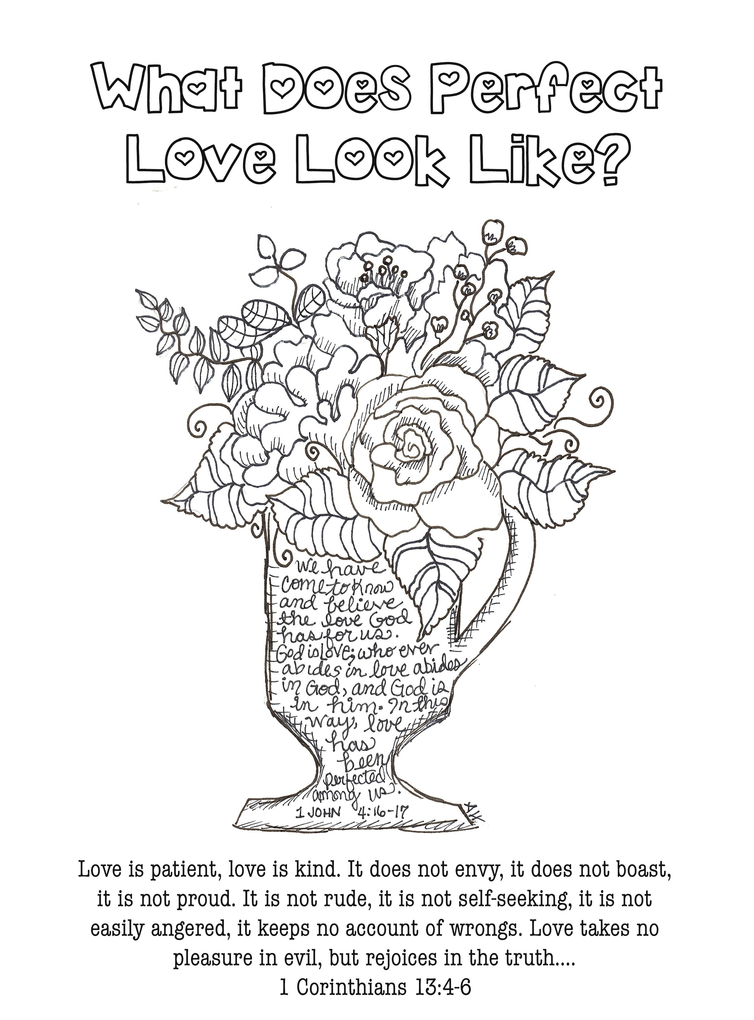 Free Coloring Bible Journaling Scripture 1 Corinthians