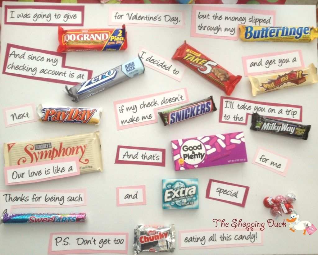 Poster board candy bar Valentine's Day card. Description from ...
