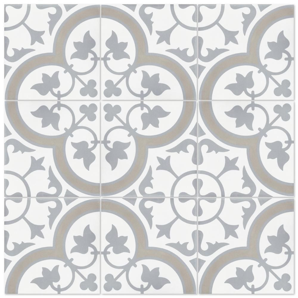 Villa Lagoon Tile Tulips B Vintage 8 In X 8 In Cement Handmade Floor And Wall Tile Box Of 16 6 96 Sq Ft Sb20sq12fr Tulp2 S7 The Home Depot Floor And Wall Tile