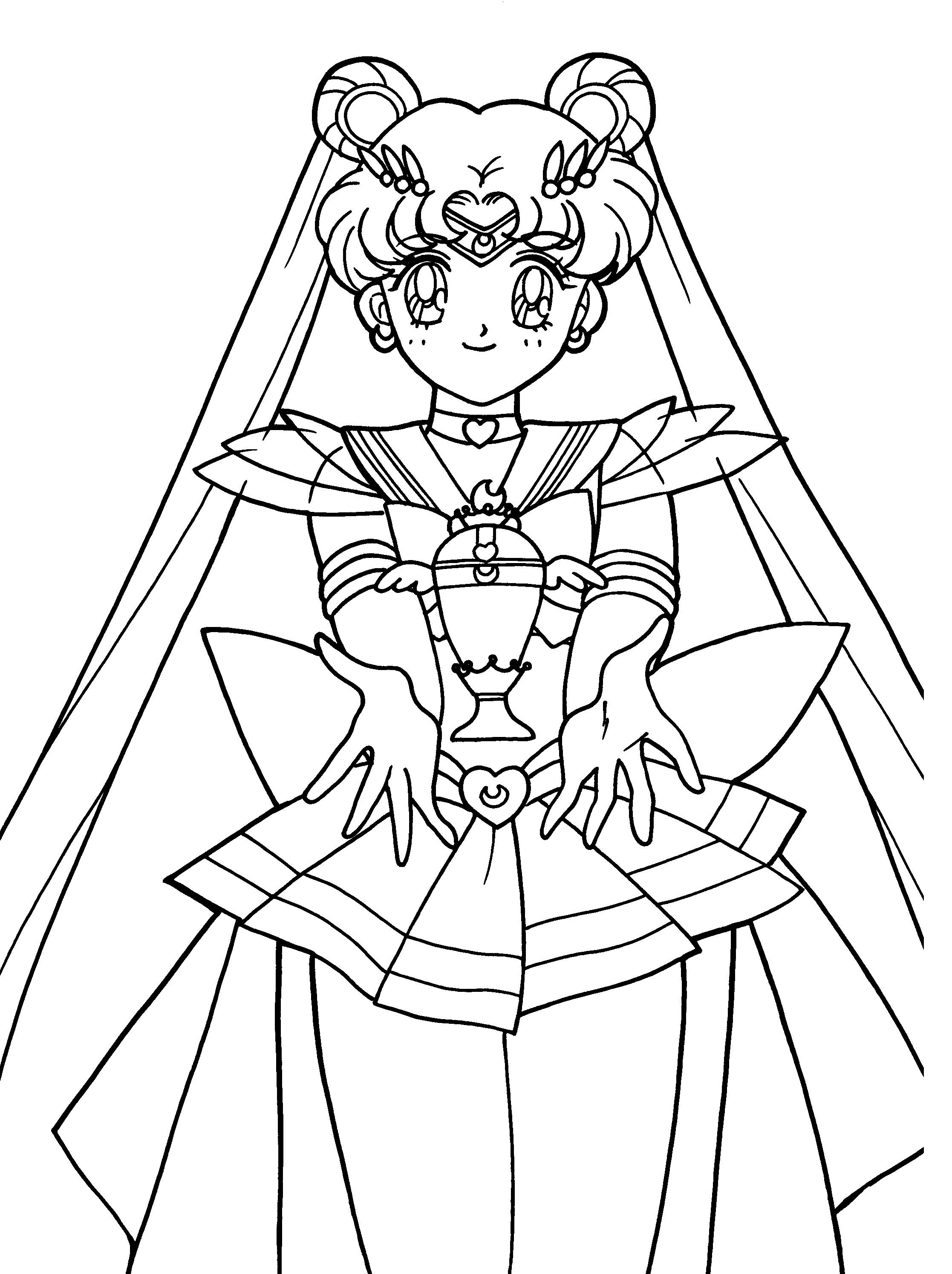 Sailor Moon Show Something Strange Coloring Pages