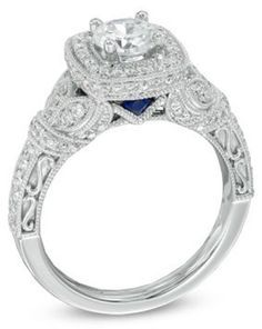 Vera Wang Love Collection Engagement Ring Vera Wang Engagement Rings Vera Wang Wedding Rings Blue Engagement Ring