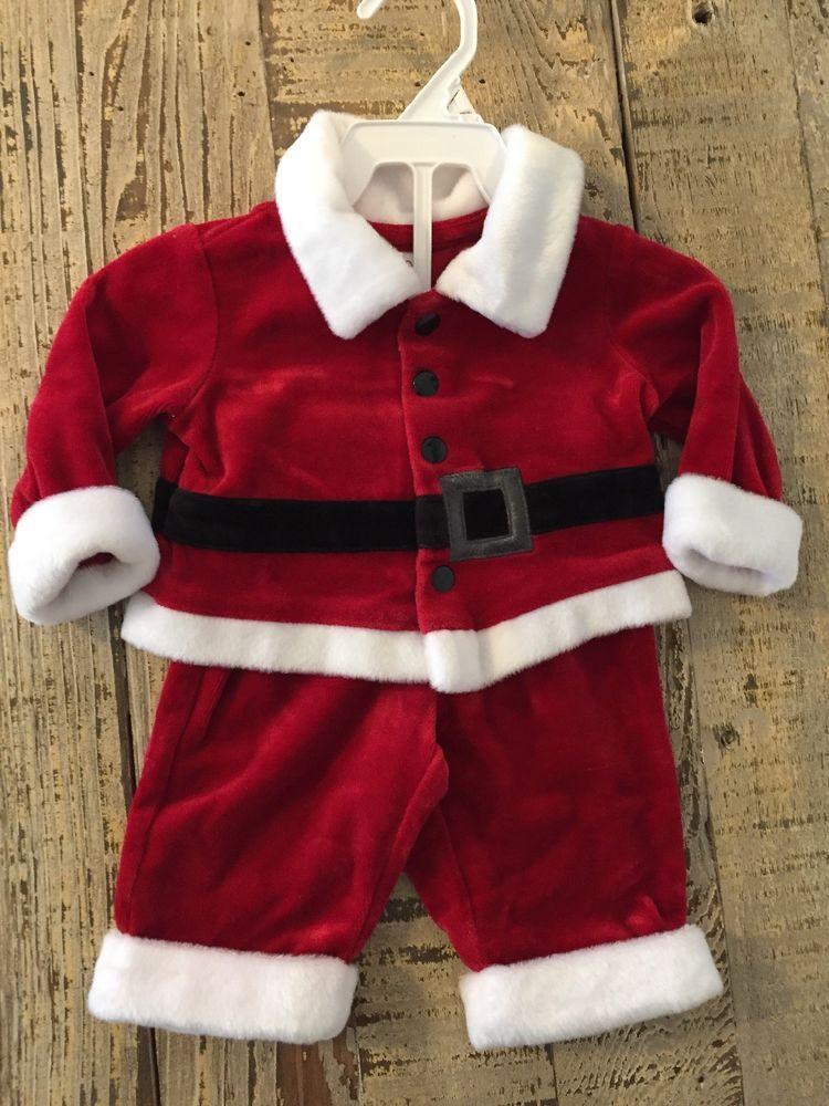 c7e56ba140 2 piece Christmas boys Santa Claus Suit NEW size 0-3 months  fashion ...