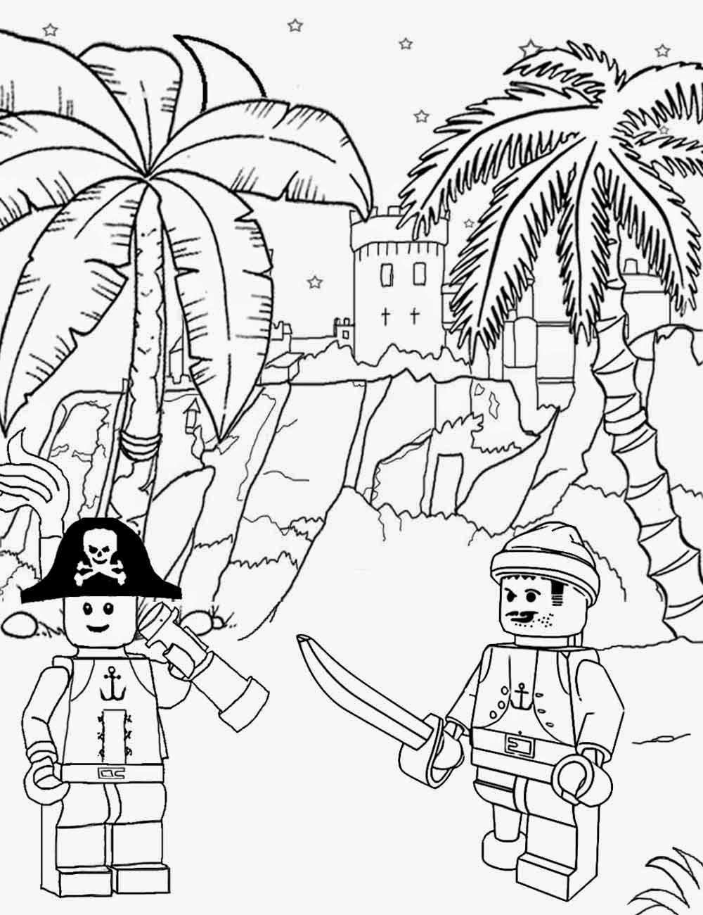 Lots Of Kinds Of Coloring Pages Lego Etc Long John Silver Sea