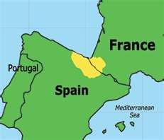 Map Of Spain Basque Region.There Are A French Basque Country And A Spanish Basque Country