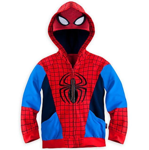 Kids Boy Spiderman Sweatshirt Hoodies Jacket Coat Hooded Outerwear Clothes 0-6Y