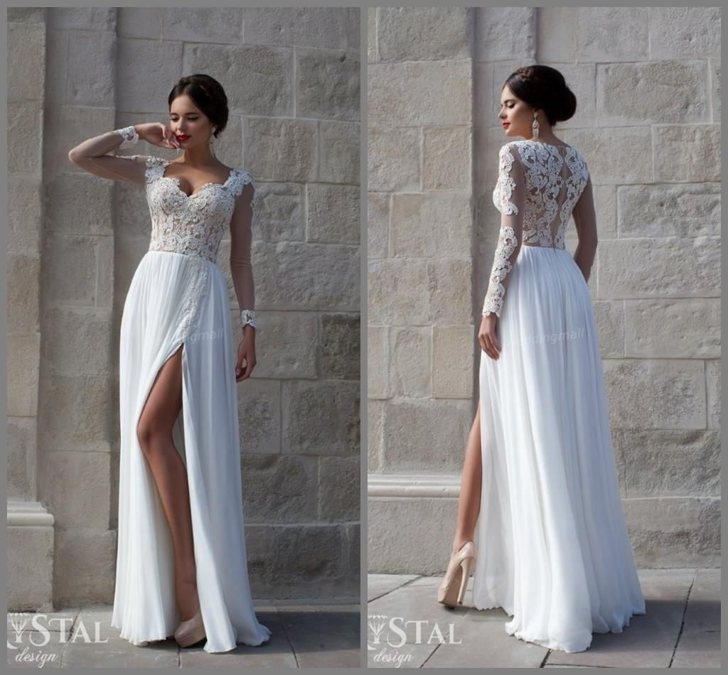 2016 wedding dresses free shipping flowing graceful high quality 2016 wedding dresses free shipping flowing graceful high quality sweetheart applique long sleeves chiffon a line floor length ombrellifo Image collections