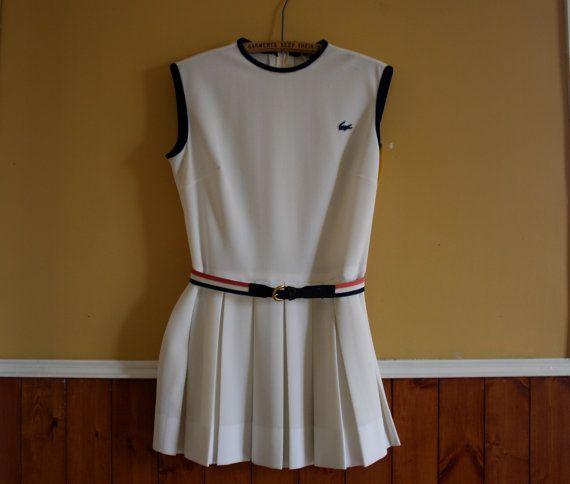 New Old Stock Vintage Lacoste Tennis Dress Chemise Lacoste Etsy Lacoste Tennis Dress Tennis Dress White Tennis Dress