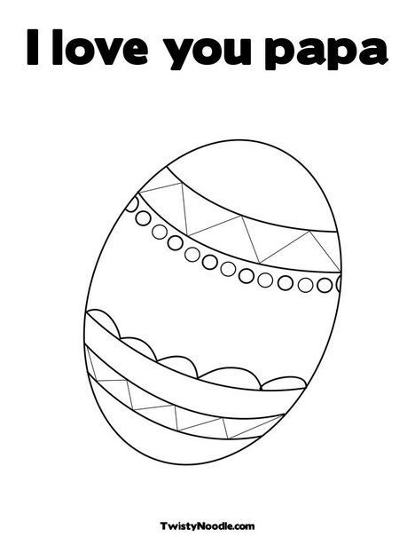 I Love You Papa Coloring Page From Twistynoodle Com Coloring