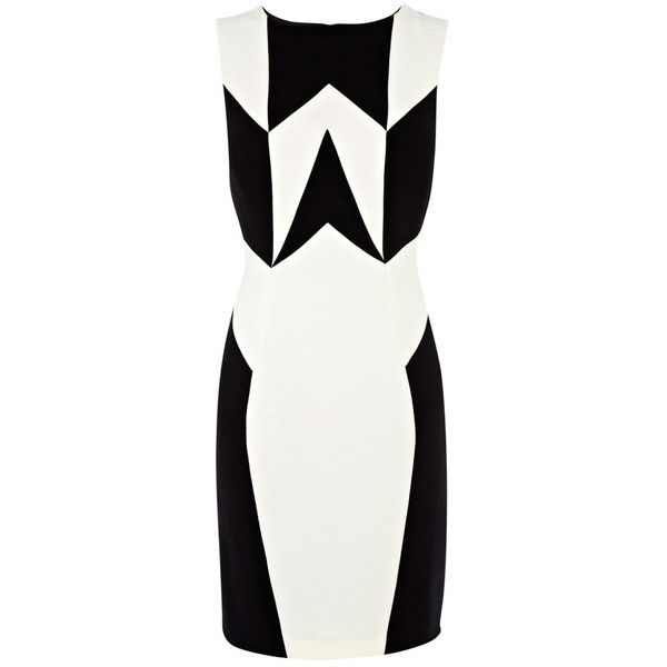 Panel dress black and white clipart
