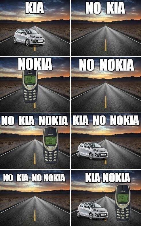 KIA, NO KIA, NOKIA, NO NOKIA...