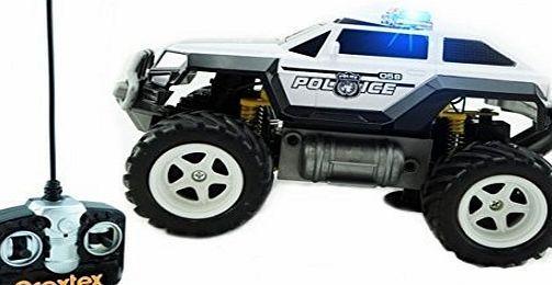 Prextex Remote Control Monster Police Truck Radio Control Police