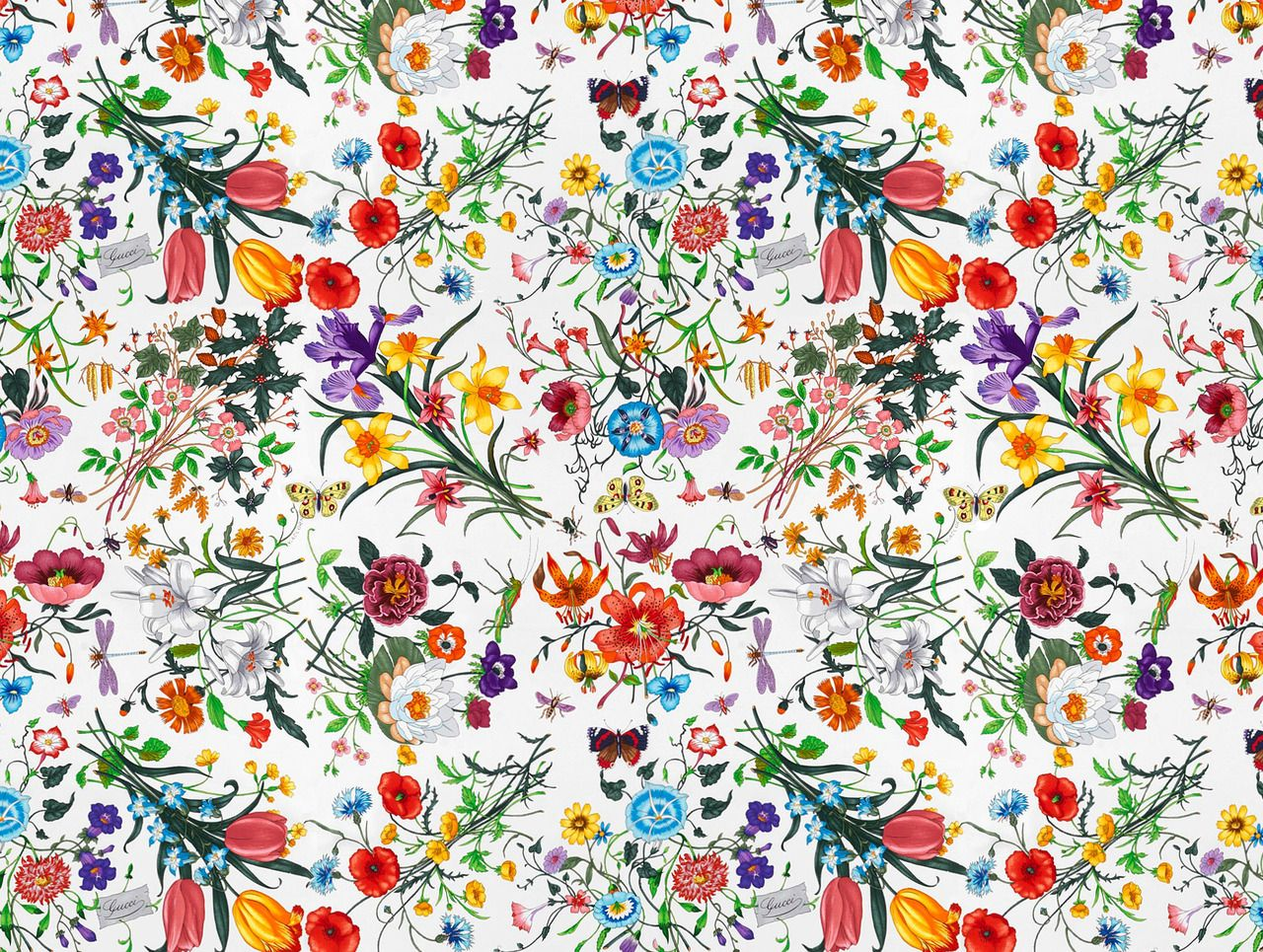 Pin by lindsay on Textile Floral prints Gucci floral