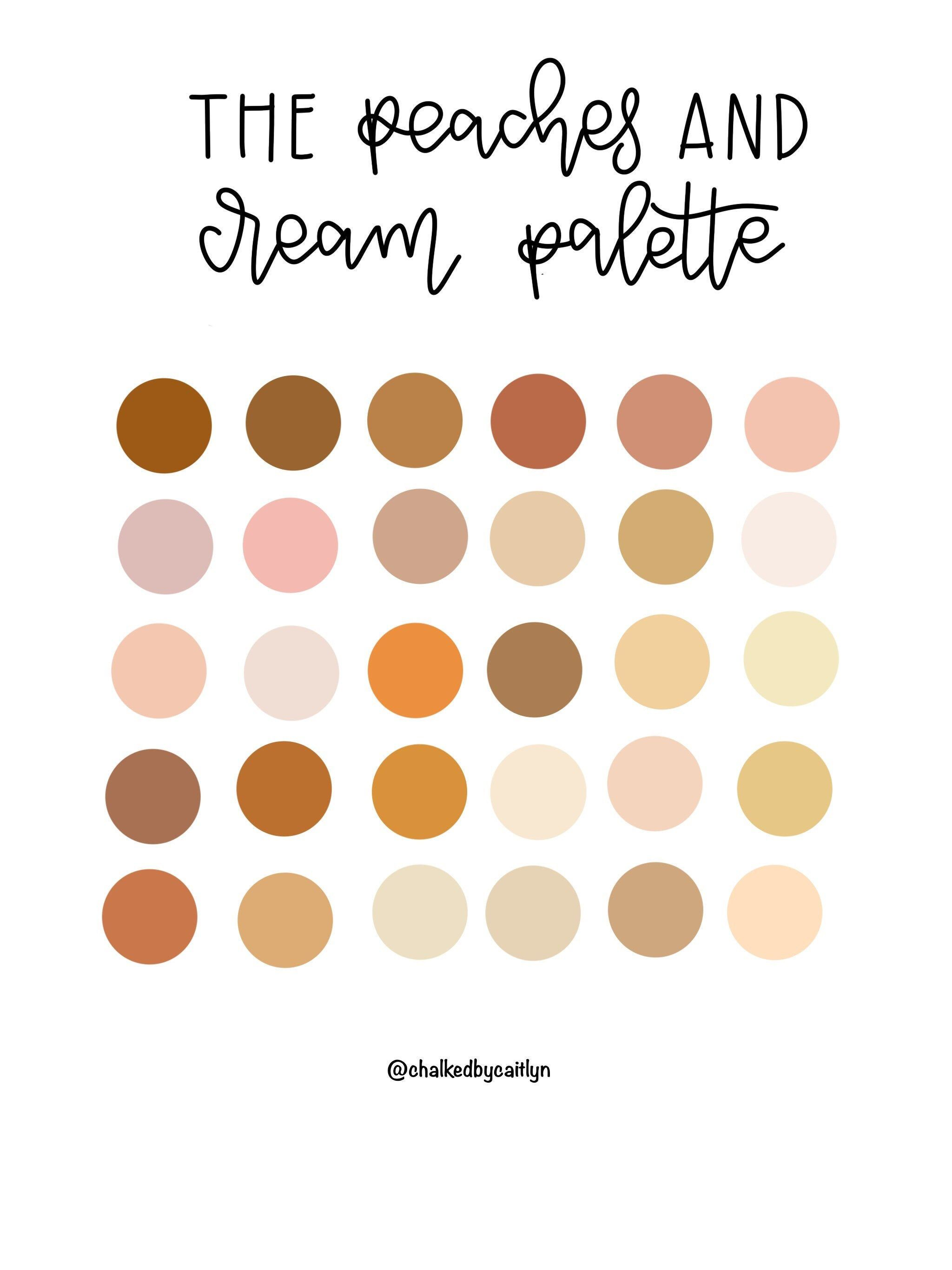 The Peaches And Cream Procreate Custom Color Palette Ipad Etsy Color Palette Design Warm Colour Palette Pastel Colour Palette
