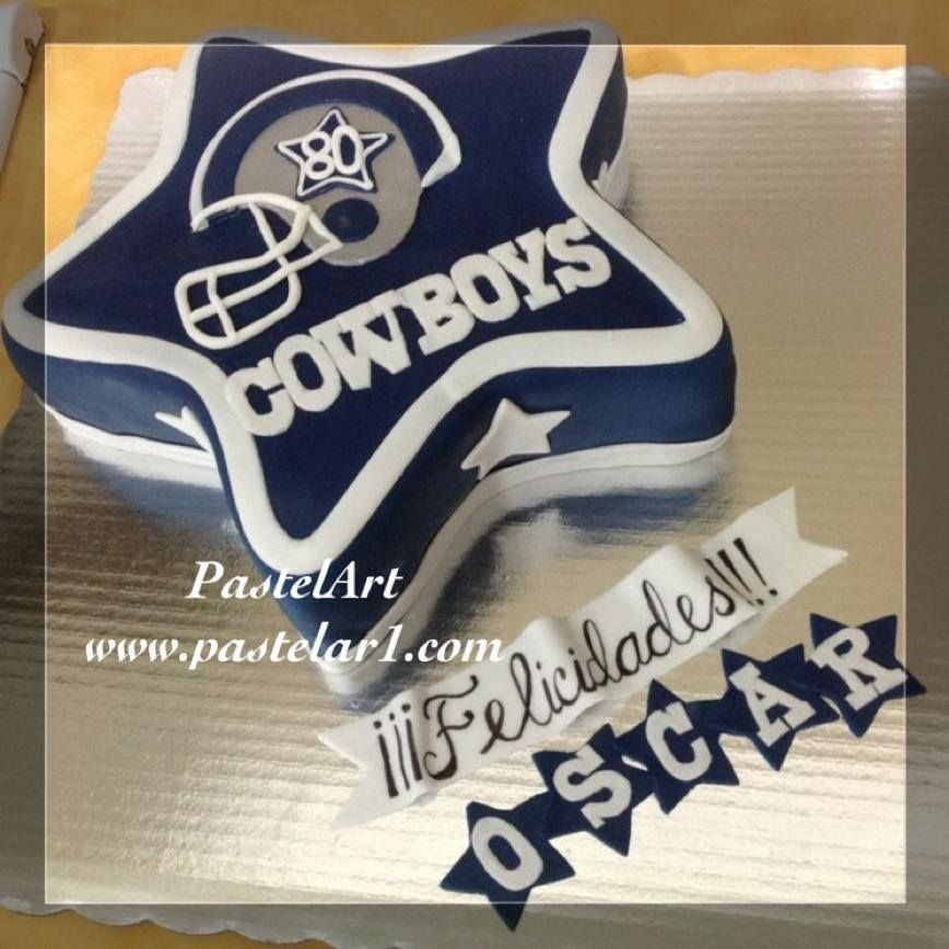 Pastel Dallas Cowboys, Disponible Desde 20 Personas
