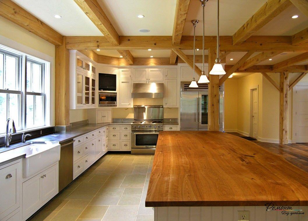 ягод здесь потолок для кухни фото в коттеджах находится