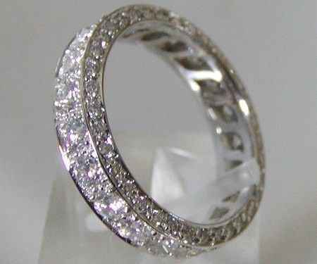 Diamond wedding ring.
