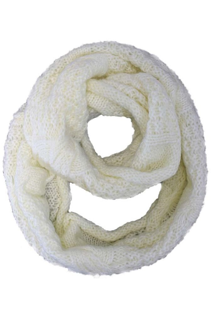 Cable Knit Winter Infinity Scarf | Circle Loop Infinity Scarves ...