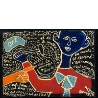 BEN (Né en 1935) C'EST LE COURAGE QUI COMPTE POUR PEINDRE N'IMPORTE QUOI ET DE LE METTRE EN VENTE... - 1988 Acrylique sur panneau