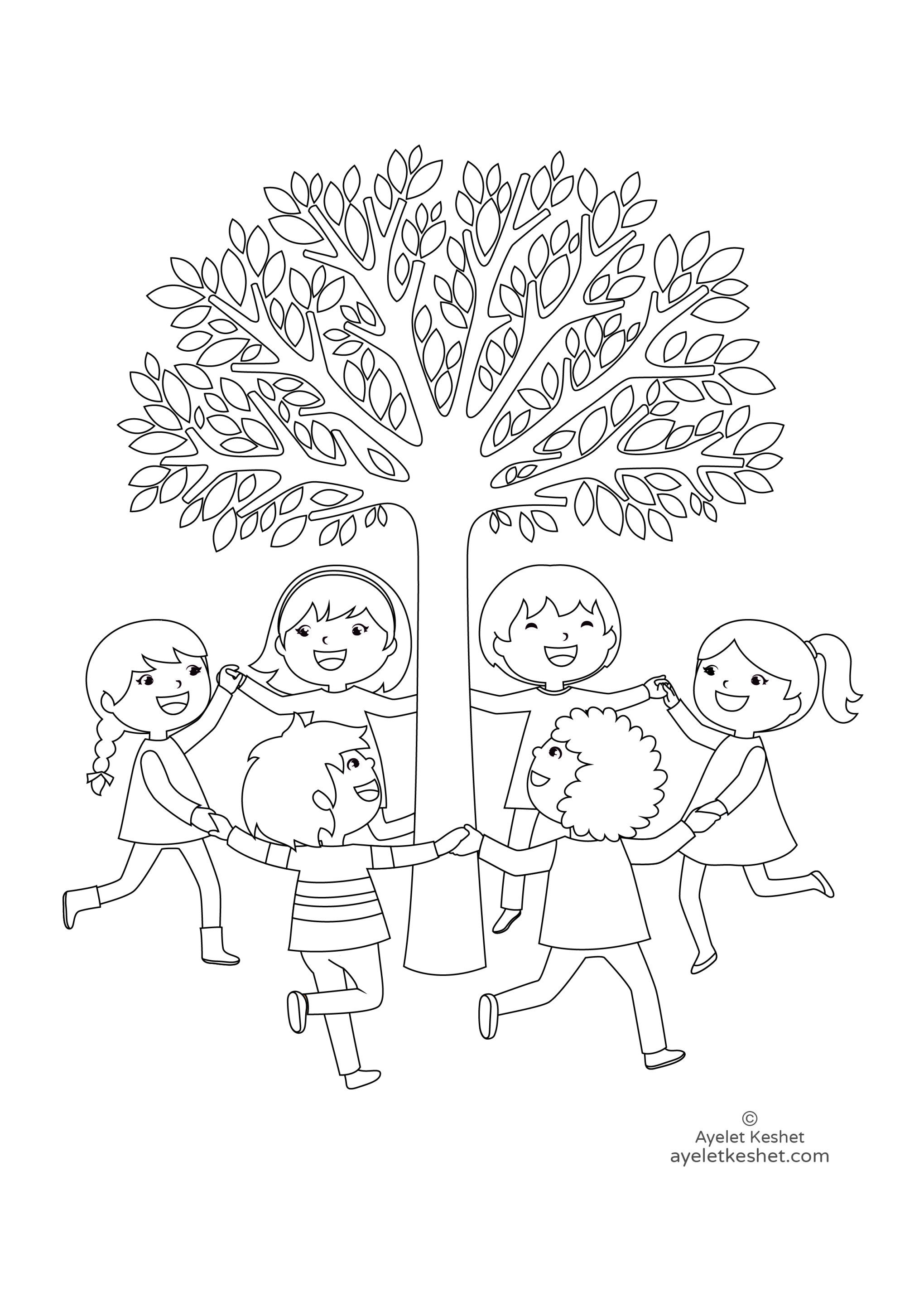 Free Coloring Pages About Friendship Ayelet Keshet Art