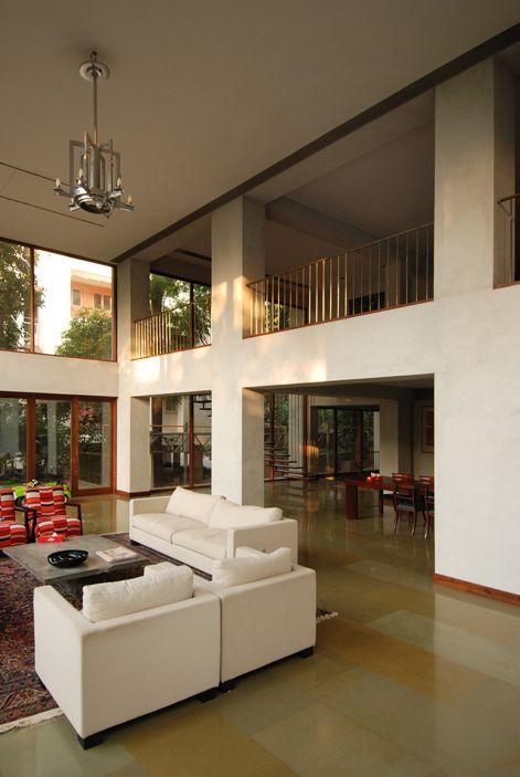 Bijoy jain house on pali hill bandra maharashtra - The living room mumbai maharashtra ...