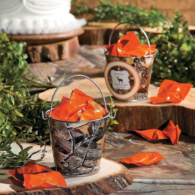 Camo Outdoor Wedding Ideas: Camouflage Pails, Pails & Baskets, Party Decorations